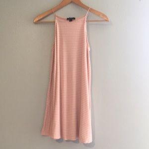Forever 21 striped shift dress pink & White
